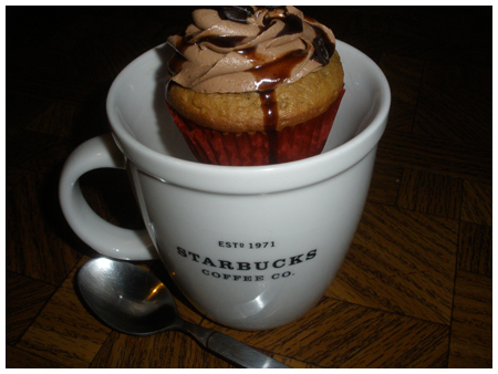 Knitting & coffee… cupcakes.