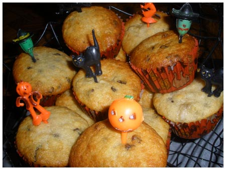 Halloweenie &#8220;malevolent muffins.&#8221;