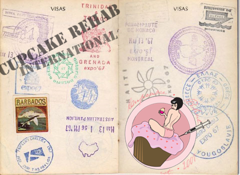 Cupcake Rehab's passport- stamped again!