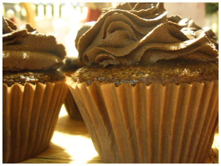 Peanut butter chocolate chip cupcakes.