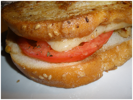 French-toasted chicken sandwiches.