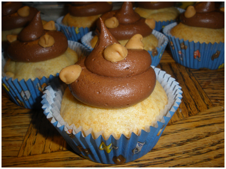 Delicious little football-hating peanut butter cupcakes.