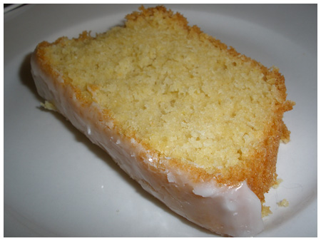 Lemon pound cake (with glaze!).