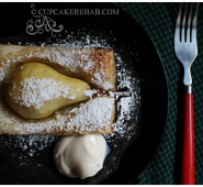 Honeyed pear tarts.