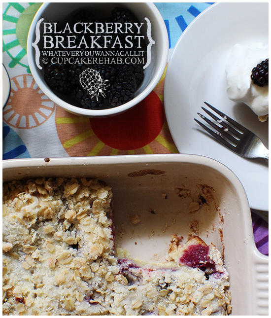 Blackberry oat breakfast bake! Also known as a blackberry breakfast whateveryouwannacallit!