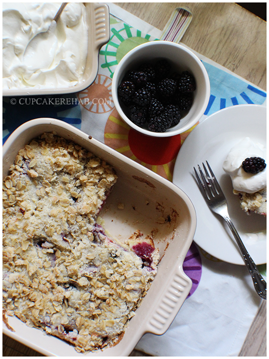 Black berry breakfast whateveryouwannacallit; call it a cake, call it a cobbler, call it a whatever... it's delicious & easy.