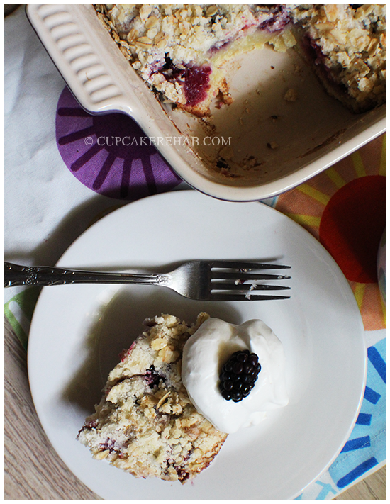 Blackberry oat breakfast bake! Also known as a WHATEVERYOUWANNACALLIT!