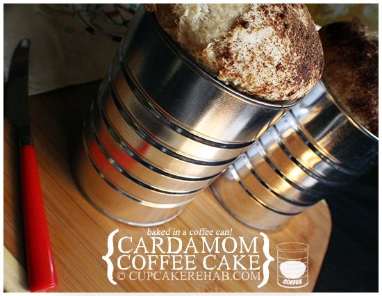 It's a coffee cake baked in a coffee can .