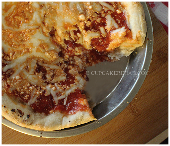 Deep dish cake pan pizza!