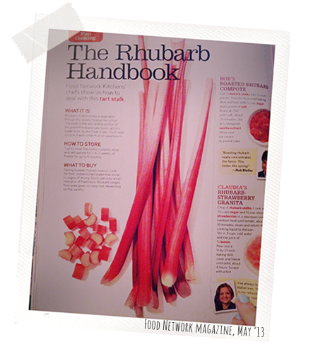 Food Network magazine, May 2013: all about rhubarb!