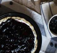 Blueberry cream pie for Dad, plus a bonus jam.