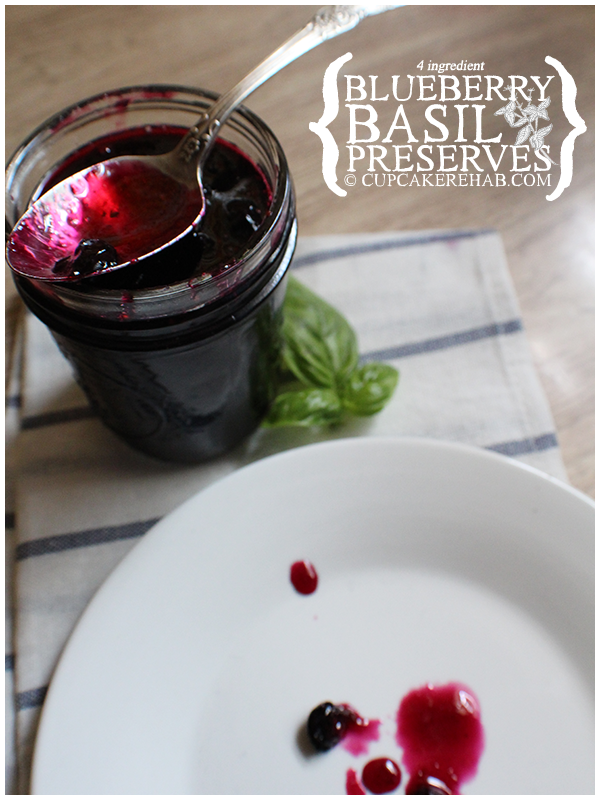 Blueberry basil preserves.