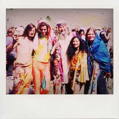 A bunch of hippies, doin' their hippie thing.