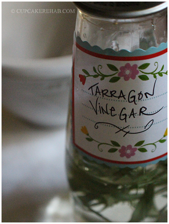 How to make homemade tarragon vinegar for salad dressings, etc.