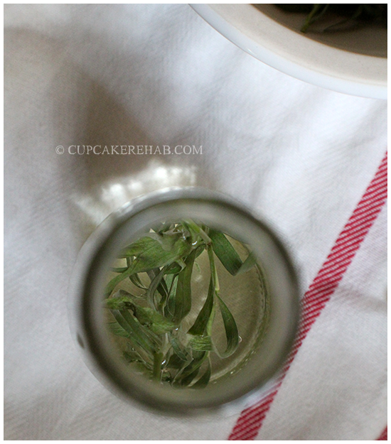 How to make your own tarragon vinegar (or any herb-infused vinegar).