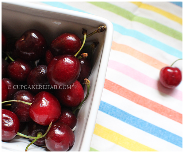 Fresh cherries (ice cream recipe).