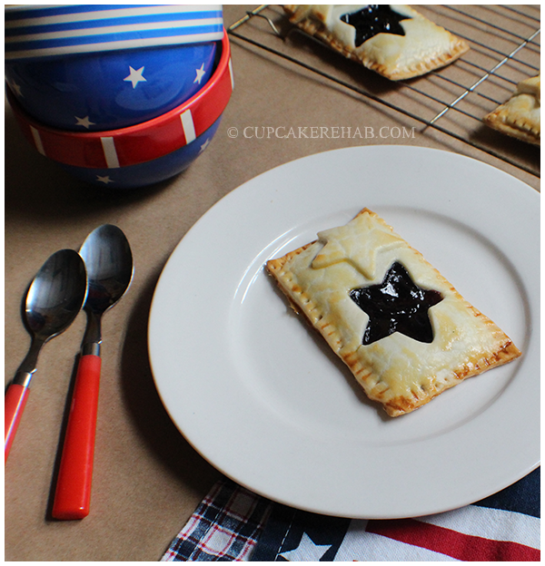 Delicious little pastries filled with blueberry (or cherry, or strawberry). #4thofjuly #independenceday