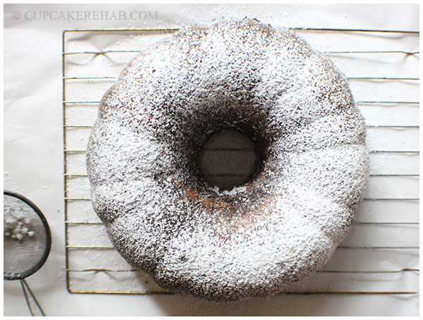 A dusting of confectioner's sugar makes everything prettier! Even a zebra bundt cake, which is pretty already.