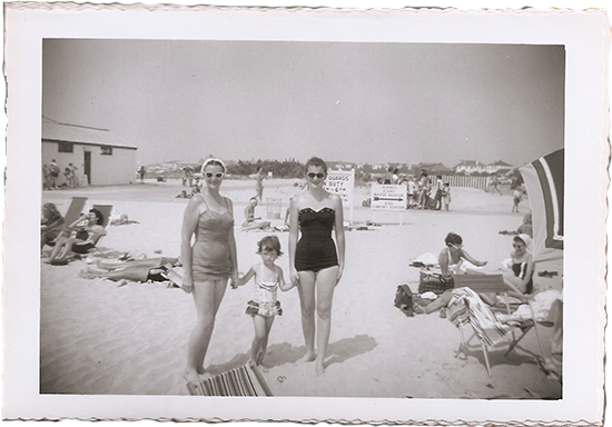 1950's beach bunnies- my grandma, mom & great aunt.