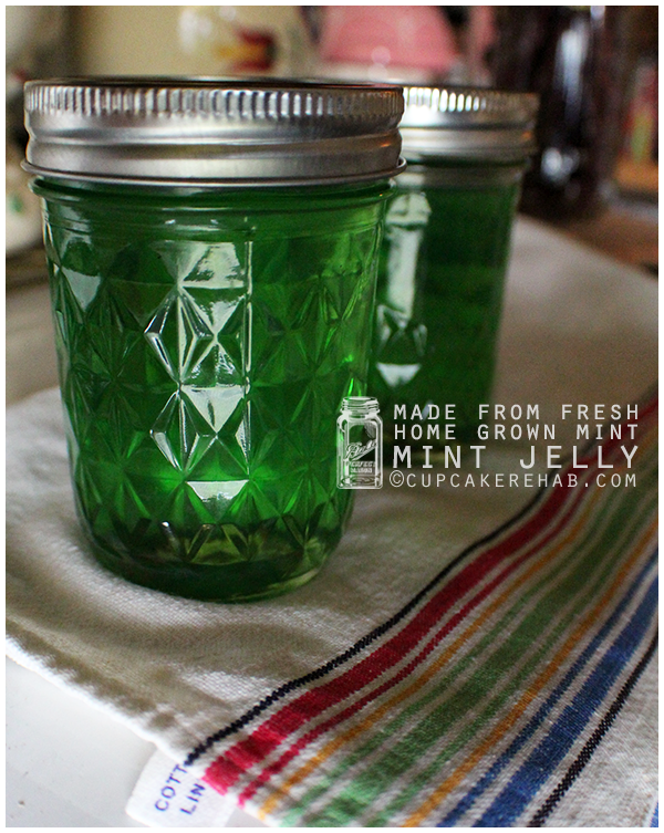 Mint jelly made with fresh mint straight outta the garden. 4 ingredients.