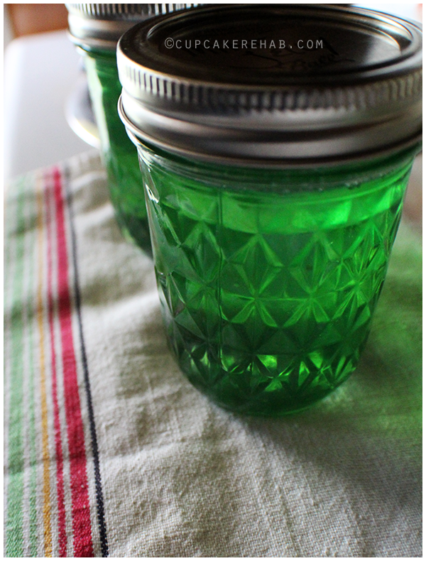 Fresh mint jelly.