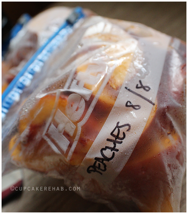 How to freeze peaches!