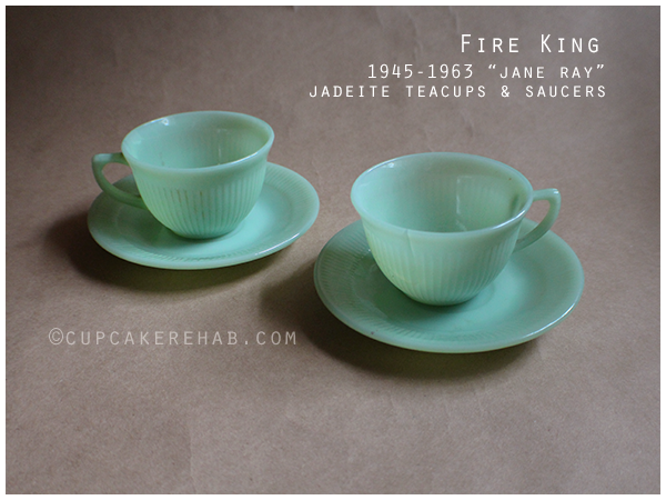 Fire King 'Jane Ray' jadeite pattern. #jadeite