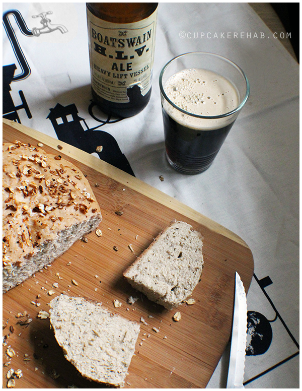 Bread made with spent brewing grain, aka what's left after making beer.