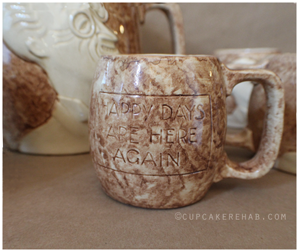 Stangl Pottery Prohibition repeal set. #Stangl #Prohibition #FDR #1930s