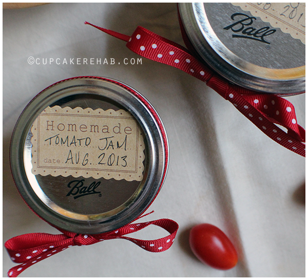 Tomato jam. A recipe adapted from Food in Jars that includes balsamic vinegar & cinnamon!