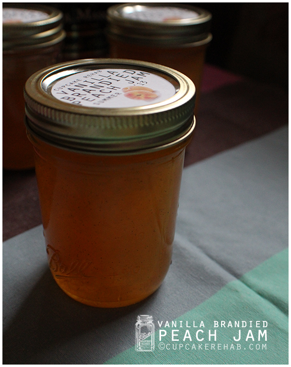Vanilla brandied peach jam. A decadent way to put up a little bit of summer.