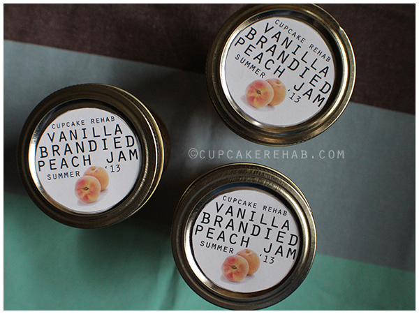 Vanilla brandied peach jam.