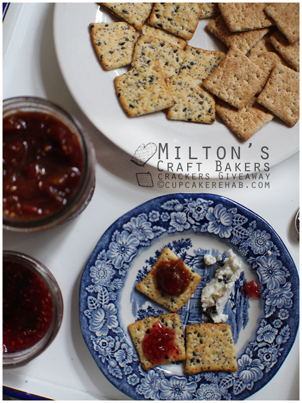 A giveaway for Milton's organic crackers!