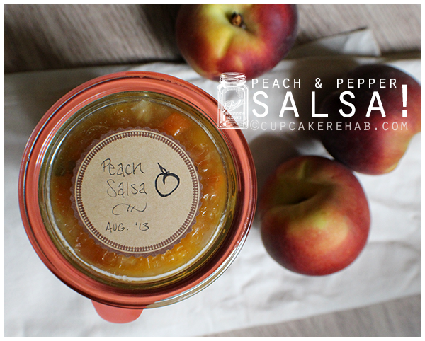 Easy peach salsa made with peaches, jalapeño, orange Bell pepper, fresh cilantro & red onion.