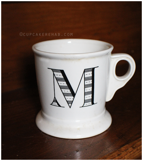 Anthropologie M mug.