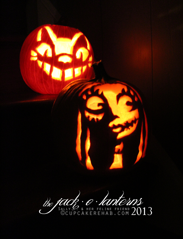 My jack-o-lanterns this year!