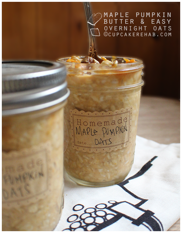An easy way to make maple pumpkin overnight oats using maple pumpkin butter.