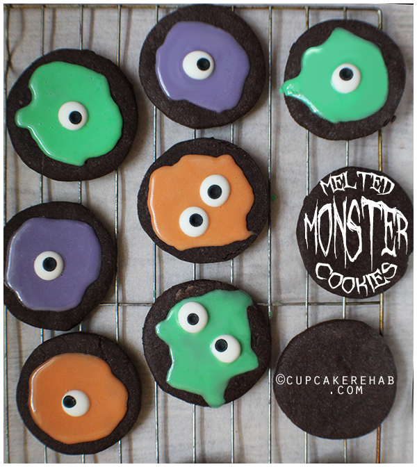 Dark chocolate melted monster cookies!
