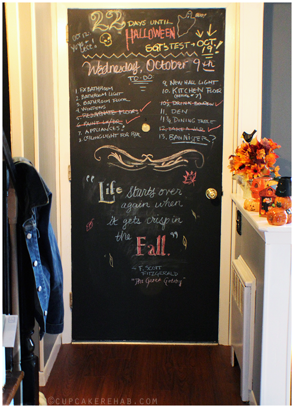 My chalkboard front door!