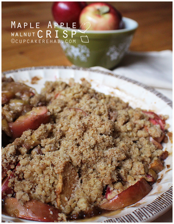 Maple apple walnut crisp recipe.