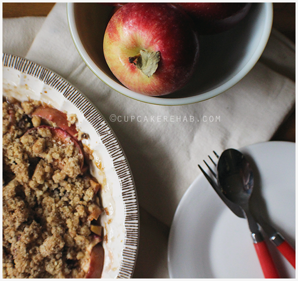 A delicious maple apple walnut crisp recipe!