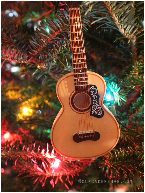 Acoustic guitar ornament, Restoration Hardware 2005.