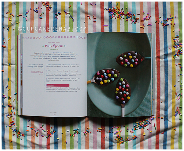 A page from Sprinkles! Recipes and Ideas for Rainbowlicious Desserts.
