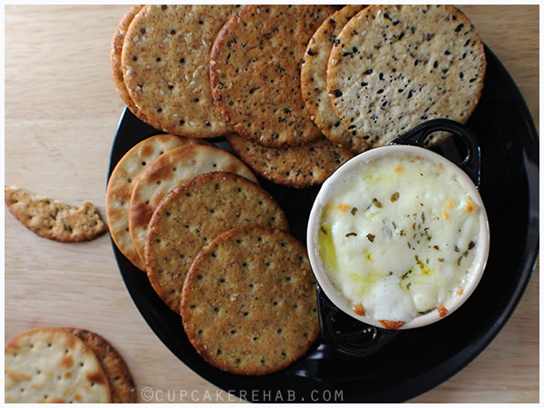 Baked ricotta dip & Milton's gourmet crackers. (click for recipe)