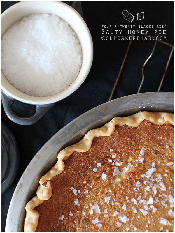 Salty honey pie recipe from Four + Twenty Blackbirds pie shop.