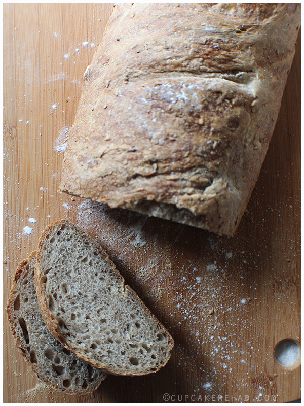 A delicious classic French bread made with spent brewing grain.