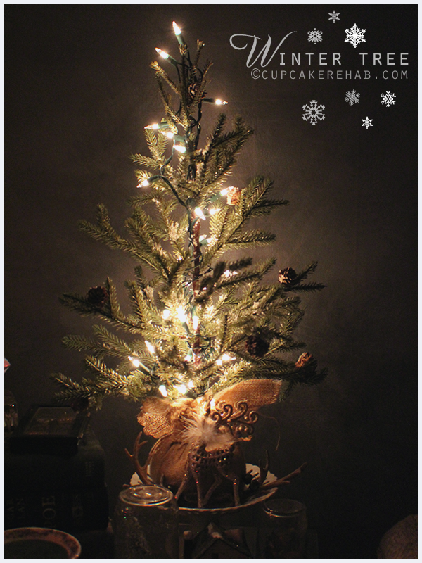 Winter tree- fight the doldrums of winter with a pretty little tree & sparkly white lights.