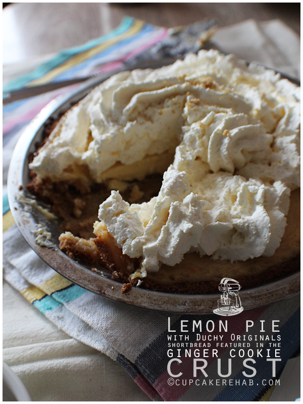 Lemon pie with ginger shortbread cookie crust PLUS a Duchy Originals giveaway!