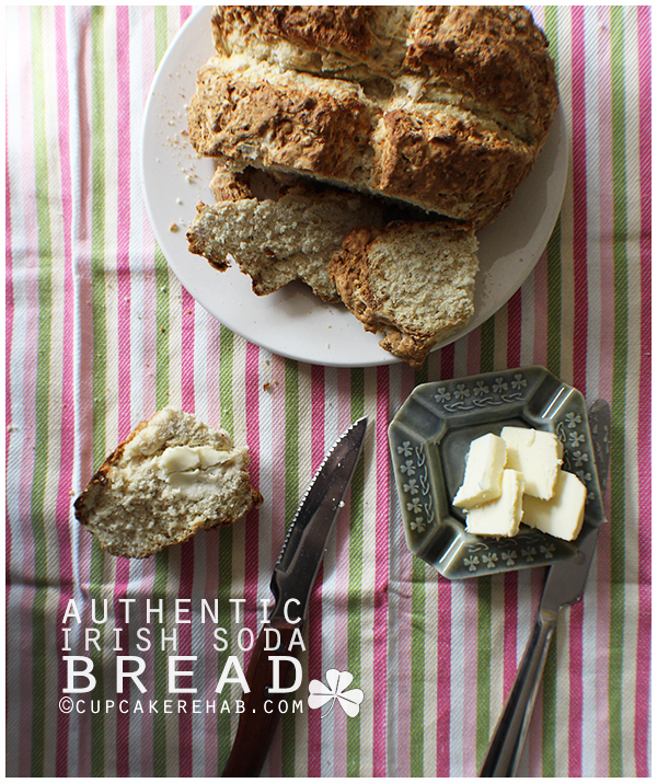 An authentic Irish soda bread, with 4 ingredients.