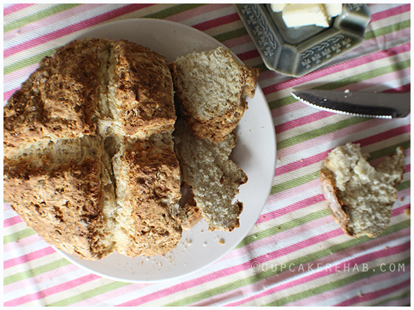 An authentic Irish soda bread! Seriously... it's real... none of that phony raisin & caraway seed loaded crap.